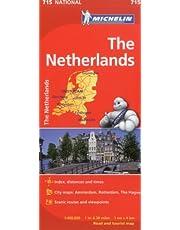 Michelin Netherlands Map 715
