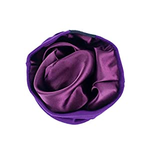 Grace Eleyae [Slap Satin-Lined Sleep Cap, Women's Tam Hat Beanie - Purple