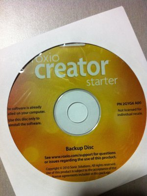 Dell Roxio Creator Starter Edition Installation CD - DELL P/N 0GYD9F (Roxio Products)