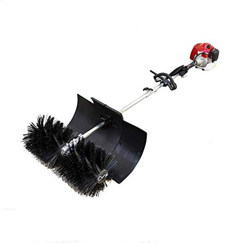 GDAE10 Outdoor Hand Held Broom, 52cc Gas Power Broom Walk Behind Sweeper Cleaning Driveway Tools High Performance Cleaner 2.3HP 1.8M (US Stock)