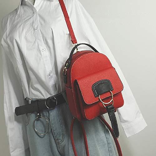 Mochila Pequeña Salvaje rojo Casual Suave Rojo mini De Wff La Pu Mini Multifuncional Viaje Bolso Pequeño Mujer Cuero wZYwqOXB6