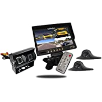 Tadibrothers 9 Inch Ultimate RV Backup Camera System with Double CCD RV Camera and Side Cameras