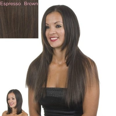 Amazon dark brown clip in hair extensions excelength amazon dark brown clip in hair extensions excelength heat friendly fibre 18 long beauty pmusecretfo Choice Image