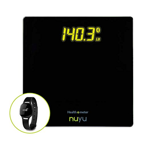 Health O Meter Nuyu Wireless Scale & Activity Tracker & 3 Colored Accessory Bands