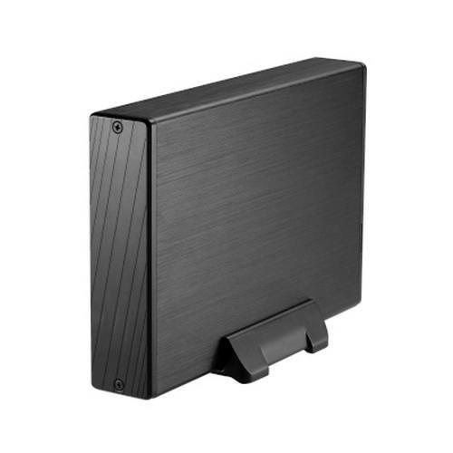TooQ TQE-3527B - Carcasa para discos duros HDD de 3.5', (SATA I/II/III, USB 3.0), aluminio, indicador LED, color negro, 350 grs.