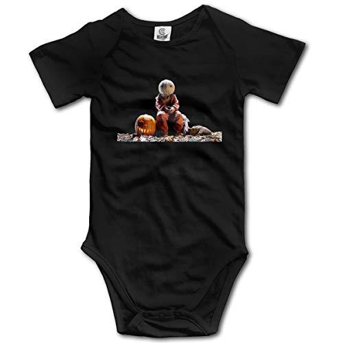 Eppedtul Trick 'r Treat 0M-2t Infant Baby Short Sleeve Baby Onesie Black 6M