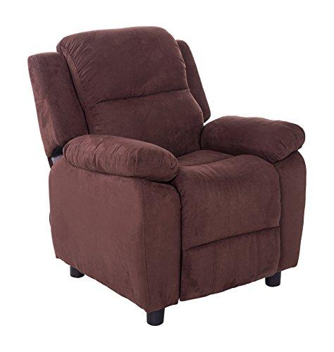 Mochi Furniture KR2002BRN Microfiber Kids Recliner, Brown by Mochi Furniture