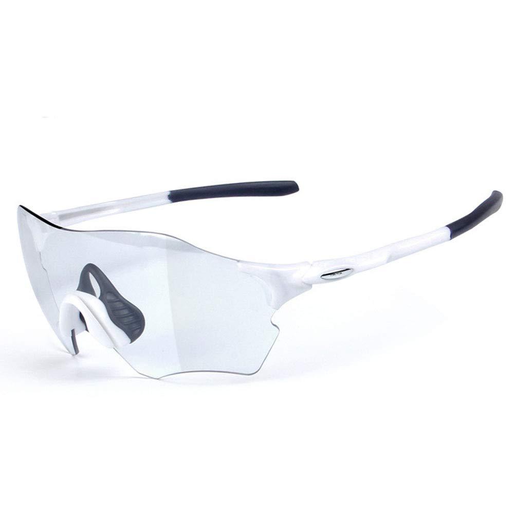 軽量設計は 乗馬サンドブラストメガネサイクリングランニングサングラススーパーライトフレームデザインのメンズとレディース6色 (Color : 白い 黒) 白い 黒