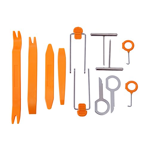 HDE 12 pcs Auto Pry Tools Kit Door - Auto Radio Removal Tool