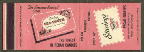 Chain Pecan (Stuckey's Pecan Shoppes Eastman GA chain matchcover)