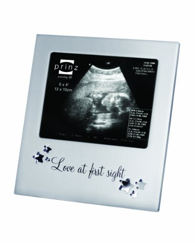 Prinz 5 by 4-Inch Love at First Sight Sonogram Frame, Silver
