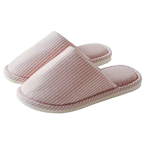 Price comparison product image ALBBG Winter Indoor Slippers Men's Slippers Warm Slippers Woman Matching Slippers Housewives Sewing Slippers Breathable Indoor Shoes Girl (L/7.5-8 D(M) US, Pink)