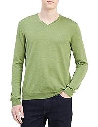 Men's Merino Solid V-Neck Sweater