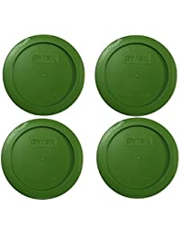 Buy Pyrex Green 2 Cup Round Storage Cover #7200-PC for Glass Bowls, 4 Pack cheapest