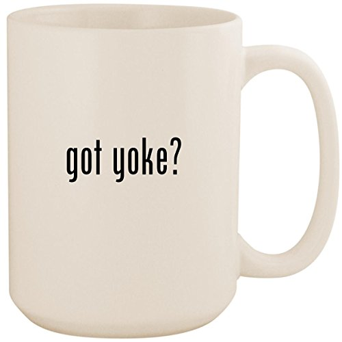 got yoke? - White 15oz Ceramic Coffee Mug Cup