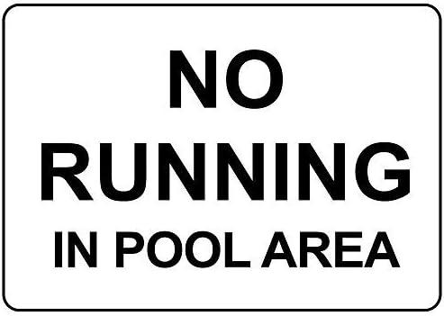 Personalisierte Metallschilder für den Außenbereich No Running In Pool Area Aluminium Metallschild
