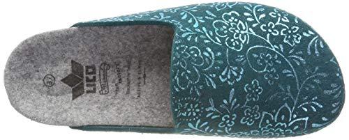Blu Zoccoli Bioline Flower Petrol Donna Clog Lico Petrol fw1qF6f