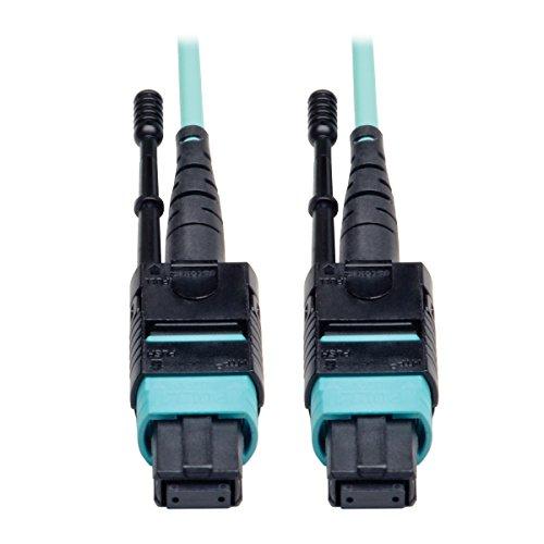 Tripp Lite MTP / MPO Patch Cable 12 Fiber,40GbE, 40GBASE-SR4,OM3 Plenum-rated - Aqua, 2M (6-ft.)(N844-02M-12-P)