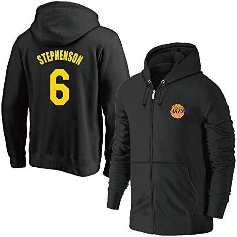 Lakers No. 6 Stephenson Jersey Unisex Pullover Hoodie Sweatshirt Jacket Hoodie