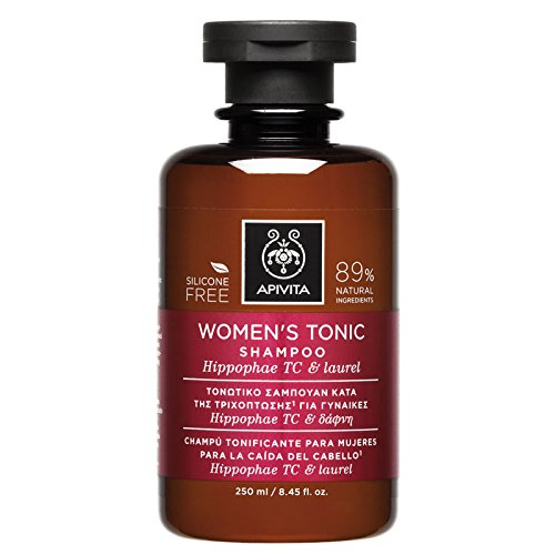 6 X Apivita Women's Tonic Shampoo for Thinning Hair (New Product, Released in 2017) - 6 Bottles X 250ml/8.5oz each one by Apivita