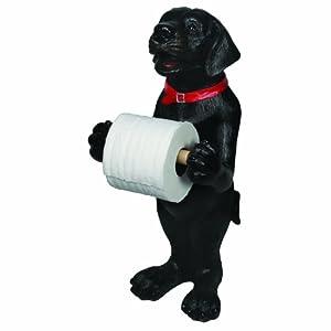 Amazon Com River S Edge Black Lab Standing Toilet Paper