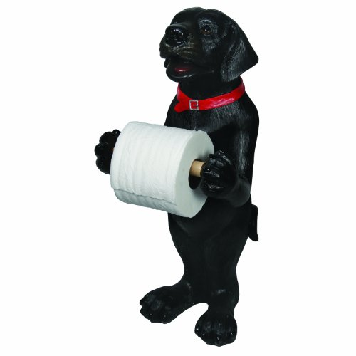 River's Edge Black Lab Standing Toilet Paper Holder