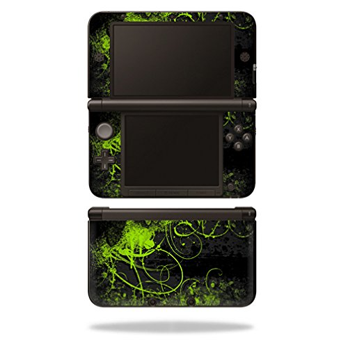 MightySkins Skin for Nintendo 3DS XL Original (2012-2014) - Green Distortion | Protective, Durable, and Unique Vinyl Decal wrap Cover | Easy to Apply, Remove, and Change Styles | Made in The USA