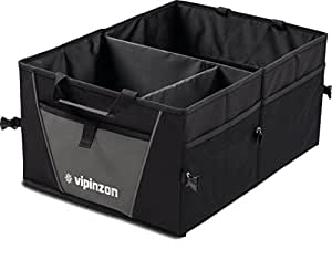 Premium Trunk Organizer by Vipinzon - Great Cargo Storage Container for Car Truck or SUV