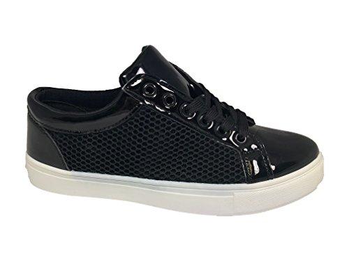 Sneaker Bequeme und Coole-Frische-Frauen in Vielen Ausführungen und Farben Schwarz