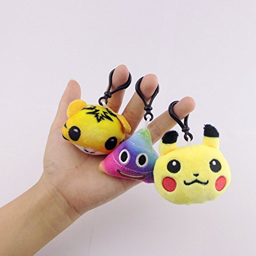 Swity Home 36 Pack Mini Emoji Plush Toy, Emoticon Toy, Mini Keychain Decorations, For Party Decoration, Party Supplies Favors, Set of 36 by Swity Home (Image #5)