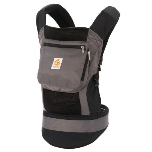 ERGO Baby Carrier - Performance Charcoal Black New Born, ...