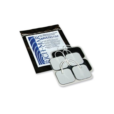 Rich-Mar Multi Stim Electrodes (CASE OF 10 PACKS -EACH WITH 4 ELECTRODES) 2x2 Square -Foam Backed