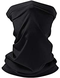 TWING Sun UV Protection Cooling Neck Gaiter For Men Women Black Face Neck Cover