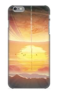 Inthebeauty Durable Defender Case For Iphone 6 Plus Tpu Cover(Anime Scenic Landscape Sun Anime) Best Gift Choice