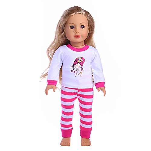 Sannysis Doll Clothes for 18 Inch Dolls , Cute Clothes & Pants Clothes for 18 inch Our Generation American Girl Doll PK (B) (Little Garments Modeling Boys)