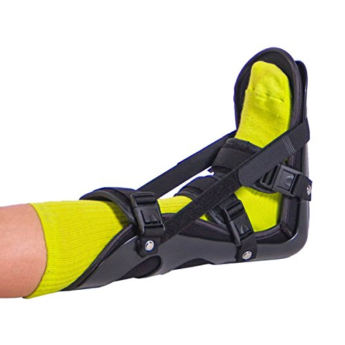 BraceAbility Sleeping Stretch Boot | Nighttime Foot Splint Treatment Brace with Adjustable Straps for Plantar Fascia, Achilles Tendon and Calf Stretching to Treat Heel & Arch Pain (Medium) (Fascia Strap Plantar)
