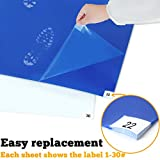SATECH Sticky/Tacky/Adhesive Mat (Case of 4 Mats,30 Sheets Each) for Cleanroom Laboratory Hospital Construction Pets - Blue and White Colors