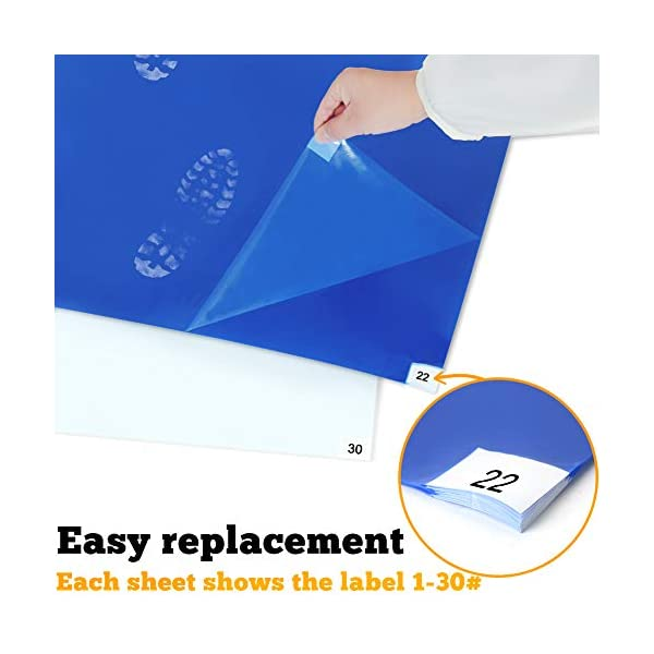 Case of 4 Mats,30 Sheets Each for Cleanroom Laboratory Hospital Construction Pets SATECH Sticky//Tacky//Adhesive Mat 18 x 36 Blue