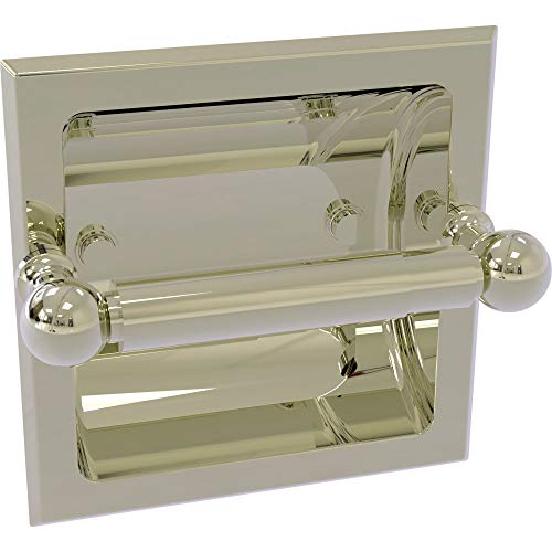 Allied Brass DT-24C-PNI Dottingham Collection Recessed Toilet Paper Holder, Polished Nickel