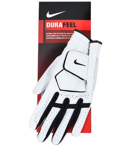 Men's Nike 2013 Dura Feel Gloves 1 Glove LH White/Black