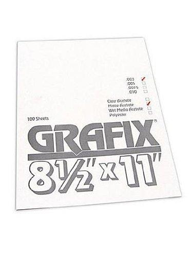 Grafix Matte Acetate Sheet 0.003, 8.5 x 11 (100 - Acetate Matte