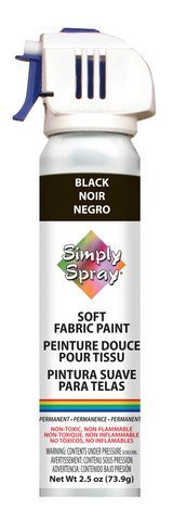 Simply Spray Soft Fabric Paint 2.5oz-Black by Simply Spray