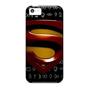 KpW5607pTvx Sdcruz Awesome Case Cover Compatible With Iphone 5c - Superman Logo