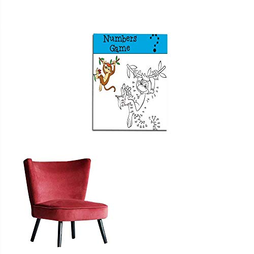 Paint By Number Monkey Mural - longbuyer Photographic Wallpaper Numbers Game Little Cute Brown Monkey Mural 32
