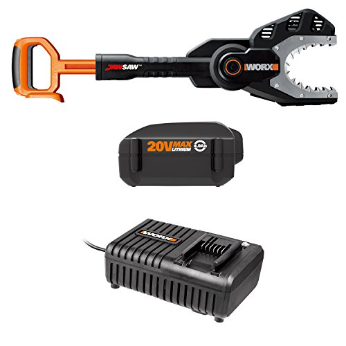 WORX WO7045 Hi-Capacity (4.0AH) 20V Jawsaw Chain Saw with Quick Charger by Worx