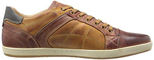 Steve Madden Mens Burst Fashion Sneaker In Pelle Color Cuoio