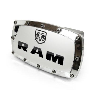 Dodge RAM Engraved Billet Aluminum Tow Hitch Cover: Automotive