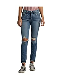 Silver Jeans Co. Vaqueros para Mujer Frisco clásico High Rise Tapered Leg