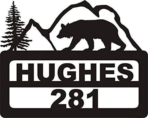 911 Address Yard Sign Bear Mountain