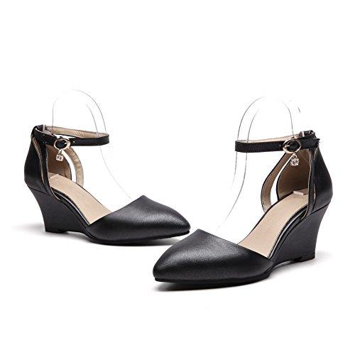 Noir Sandales Compensées ASL05506 BalaMasa Femme IAqxw6BSaU